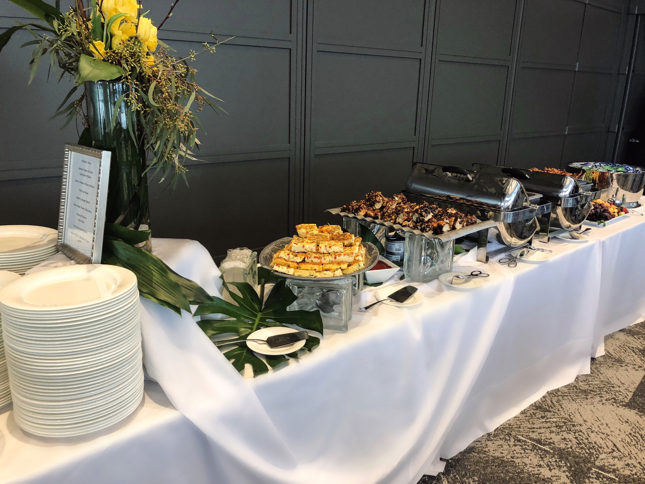 Catering Options - Conference and Event Space reimagined means that we have also taken our catering options to the next level. Now you have the ability to choose! Offering a list of premier caterers allows our clients to choose the best fit for their event style and budget.