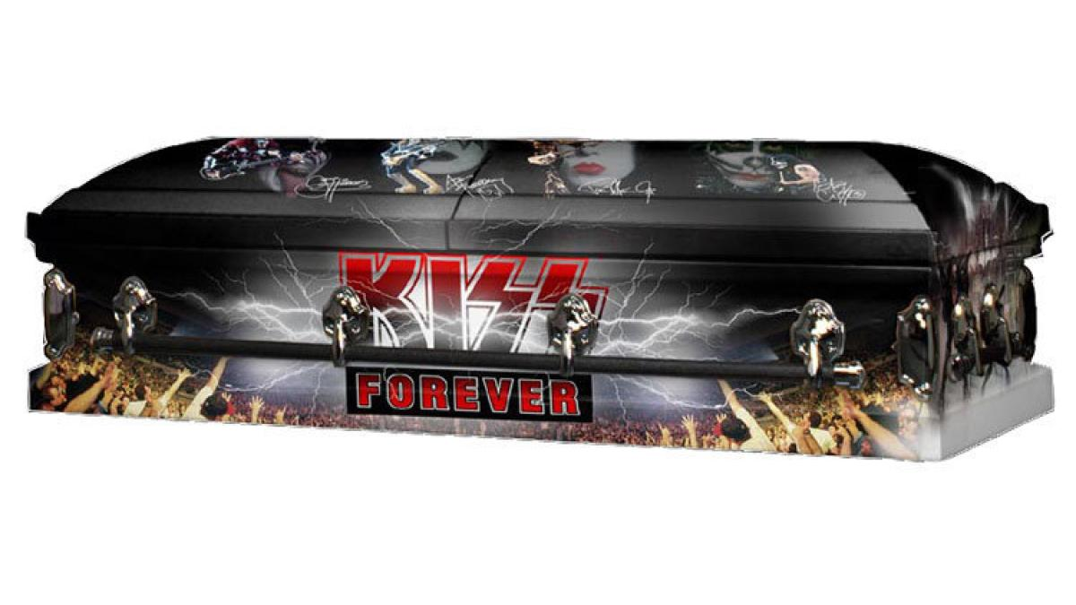 KISS Kasket   Of a myriad of licensed goods produced for tour and kissonline.com, the KISS Kasket was by far the most interesting and challenging project. I worked directly with Gene Simmons to produce this unique collectible.