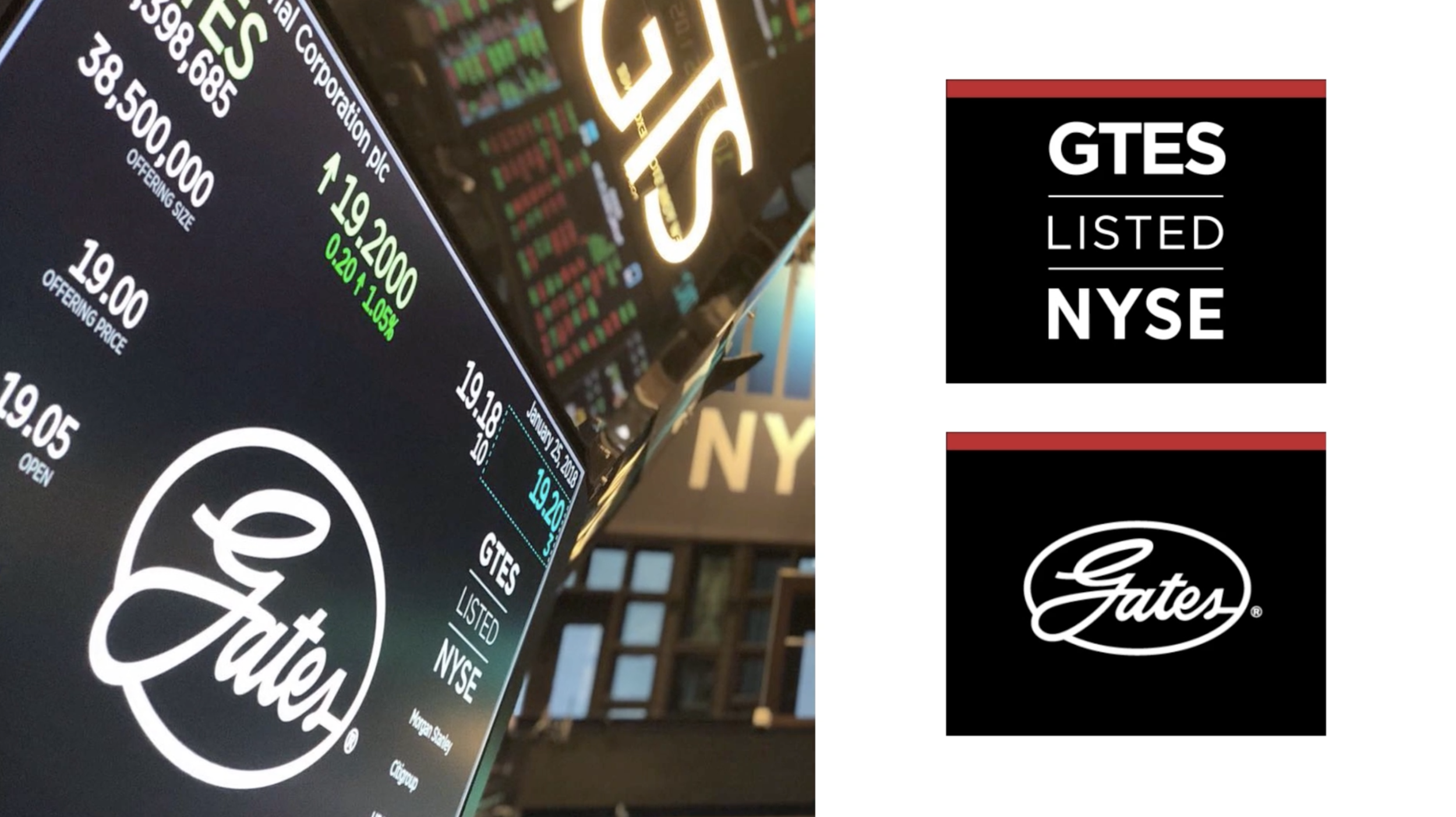 Gates Corporation IPO   Taking a hundred year old industrial brand into the digital age for an IPO is a good trick. Doing it in three weeks? Let's just say it was an all-hands-on-deck situation. With a range of media – video, signage for the NYSE, 3D modeling, subway posters, print ads, digital buzz, social, press packages, broadcast - having experience in a variety of deliverable formats made me a natural to manage this intense, broad-reaching project.