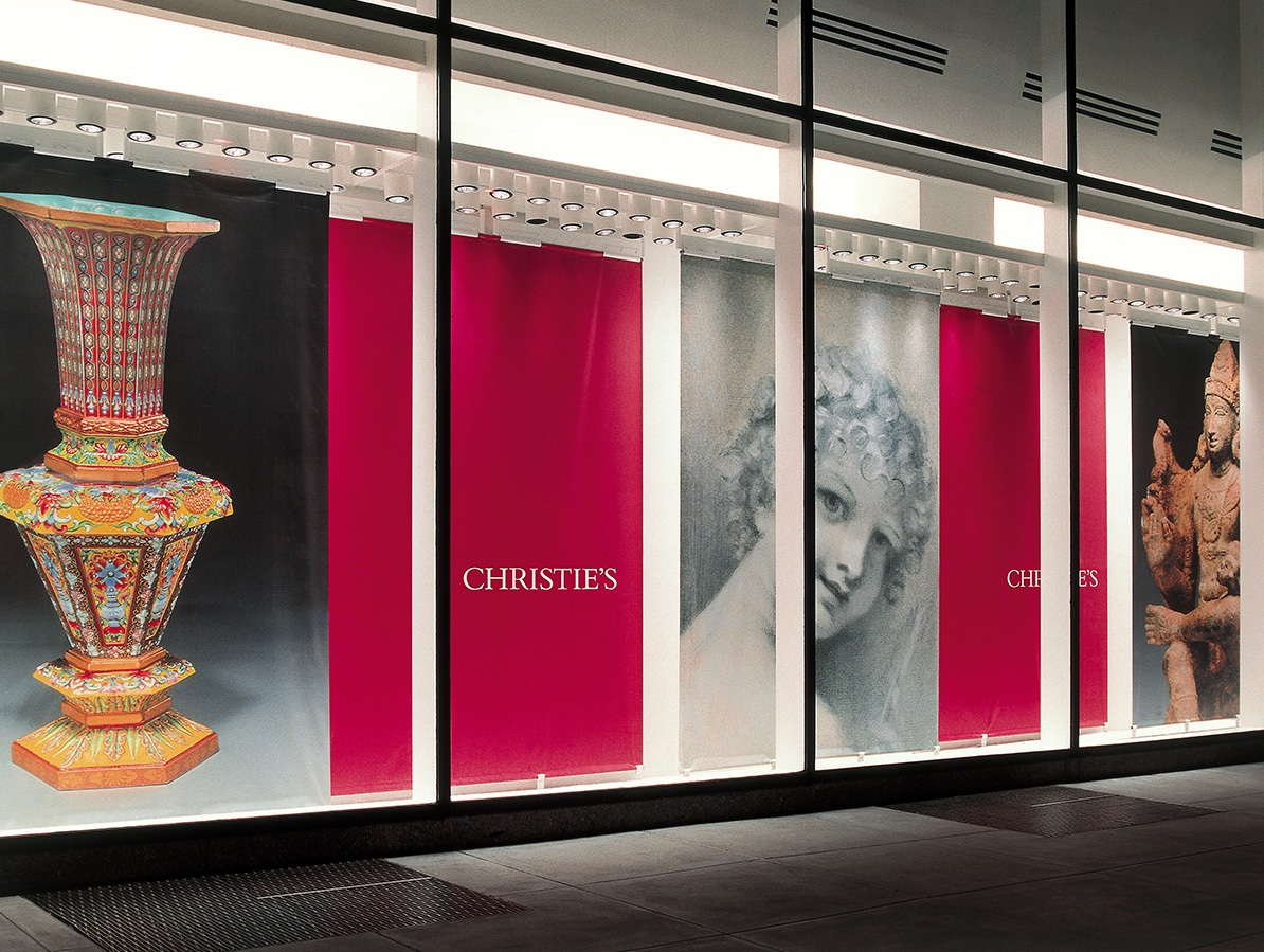 Christie's NY Windows   Ensuring the accurate translation of world-renowned artwork into both large-format visuals and print was a tremendous responsibility. For this eager art enthusiast, trips into the vaults to view originals were an unforgettable privilege.