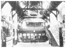 Photo of Old Hall, reproduced by kind permission of the Dragon School.