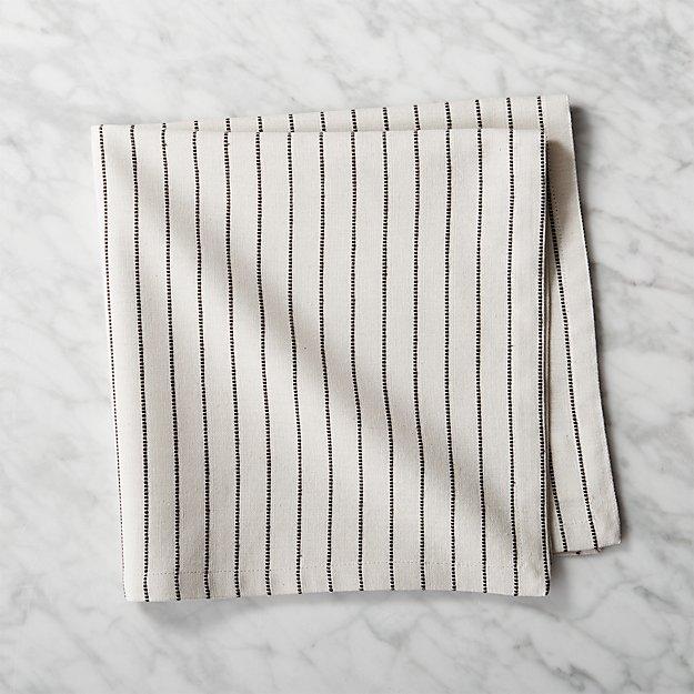 Natural and Black Pinstripe Napkin