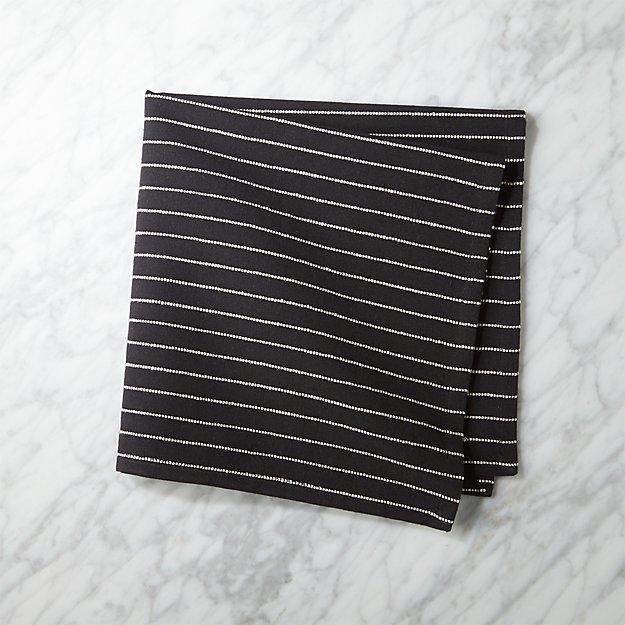 Black and Natural Pinstripe Napkin