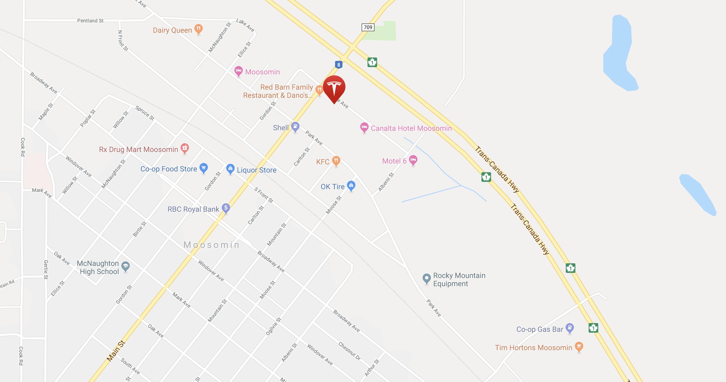 Supercharger Location in Moosomin, Saskatchewan