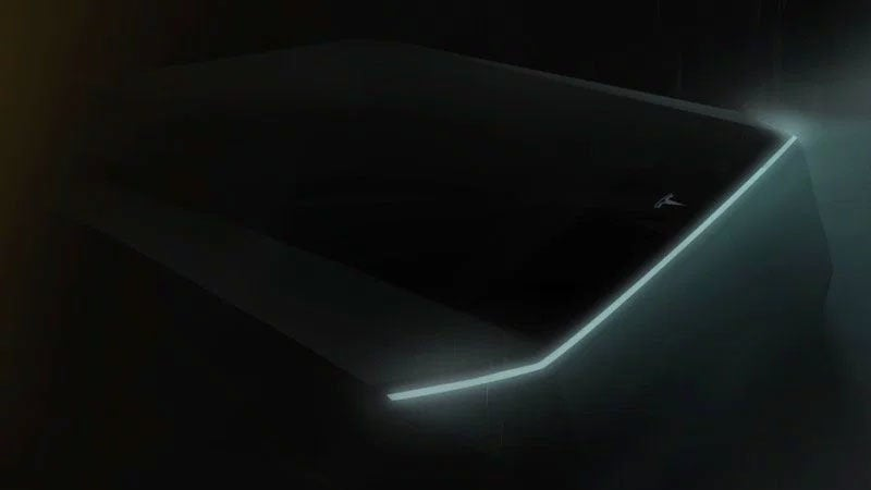 Tesla Pickup truck preview image released by Elon Musk