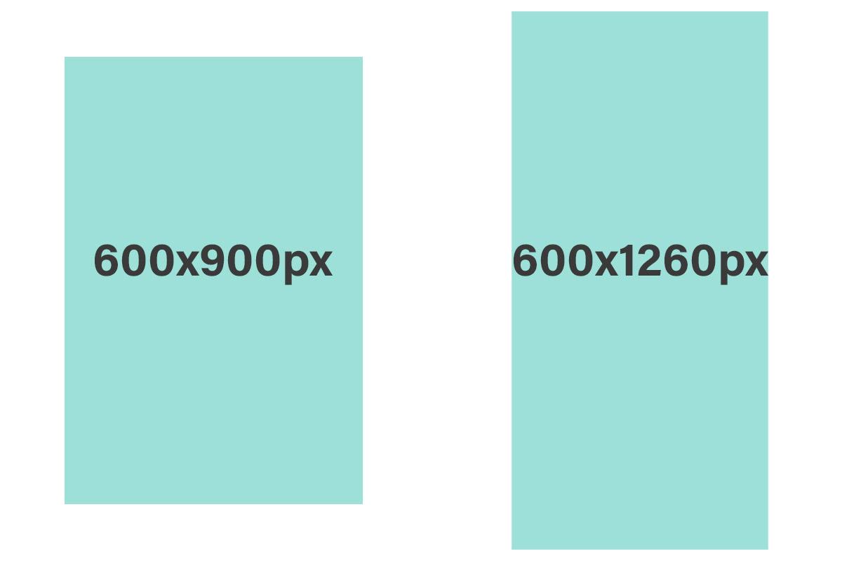 Pinterest optimized image sizes