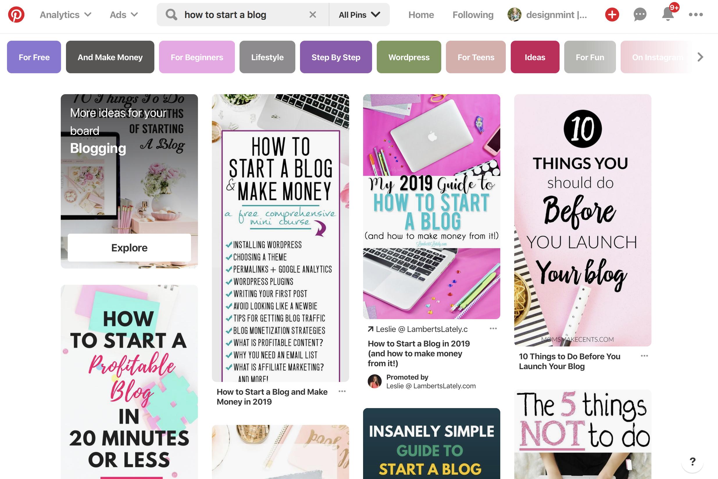 Pinterest marketing keyword SEO research