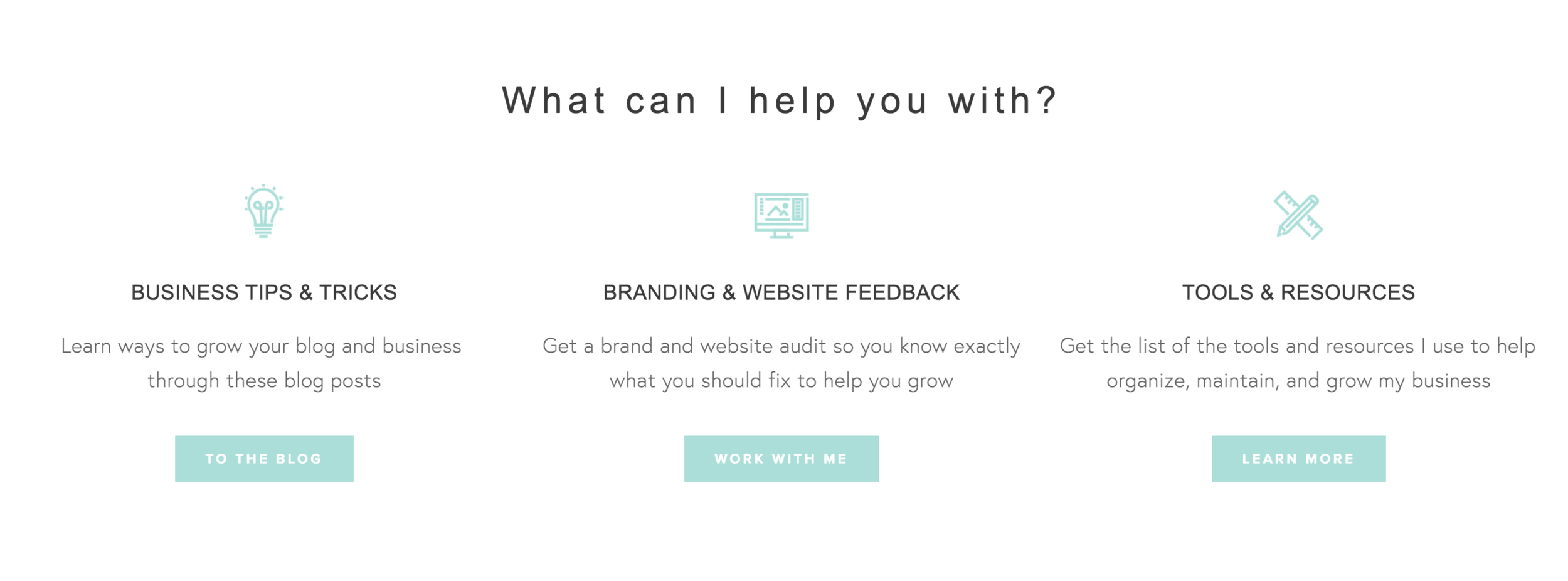 Call to action on your homepage to take your reader on a journey