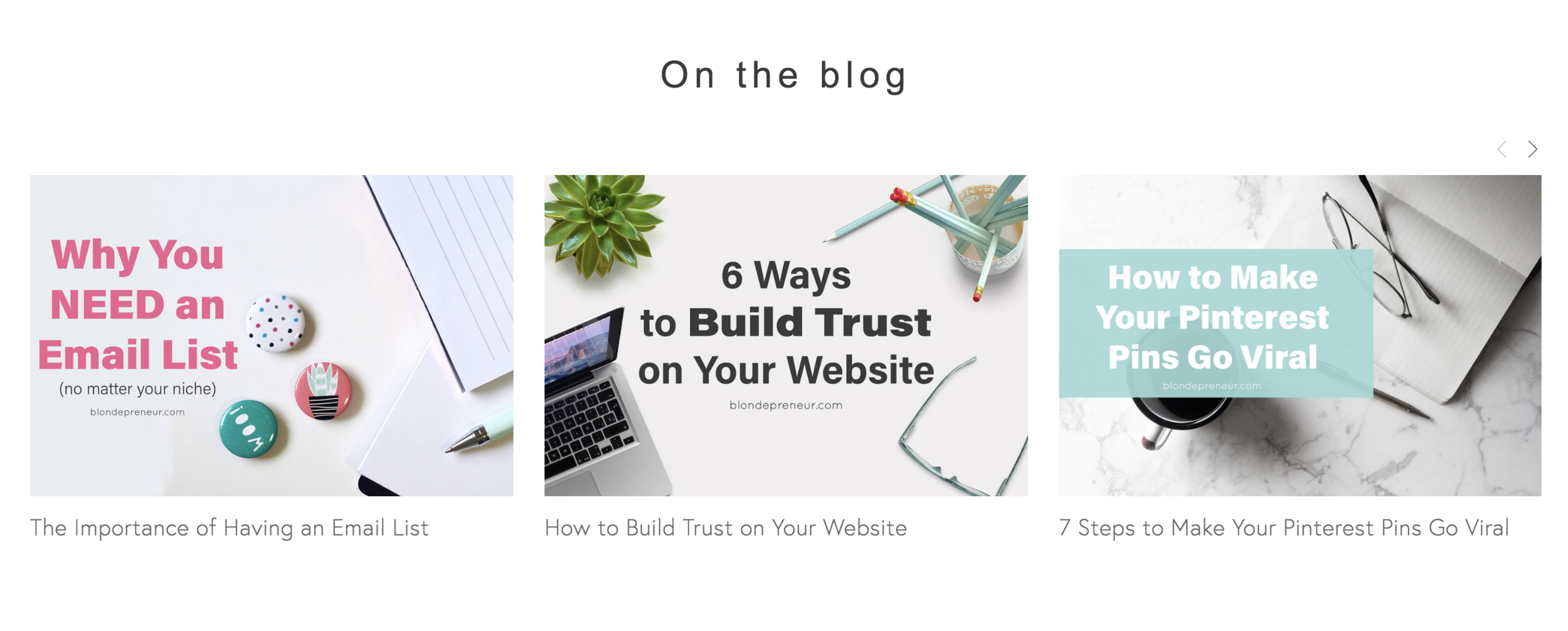 Offer free content on your homepage to give your readers value