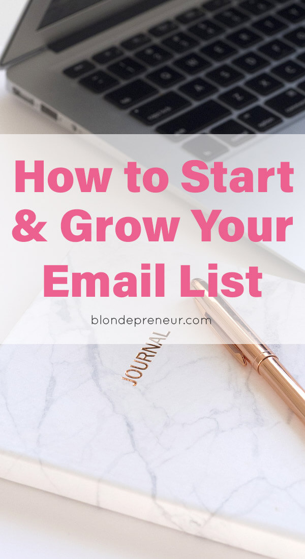 Tips on how to start and grow your email list quickly. Learn about selecting an email marketing service provider, how to get people to signup for your email list, and where to place your opt-ins on your blog posts and website