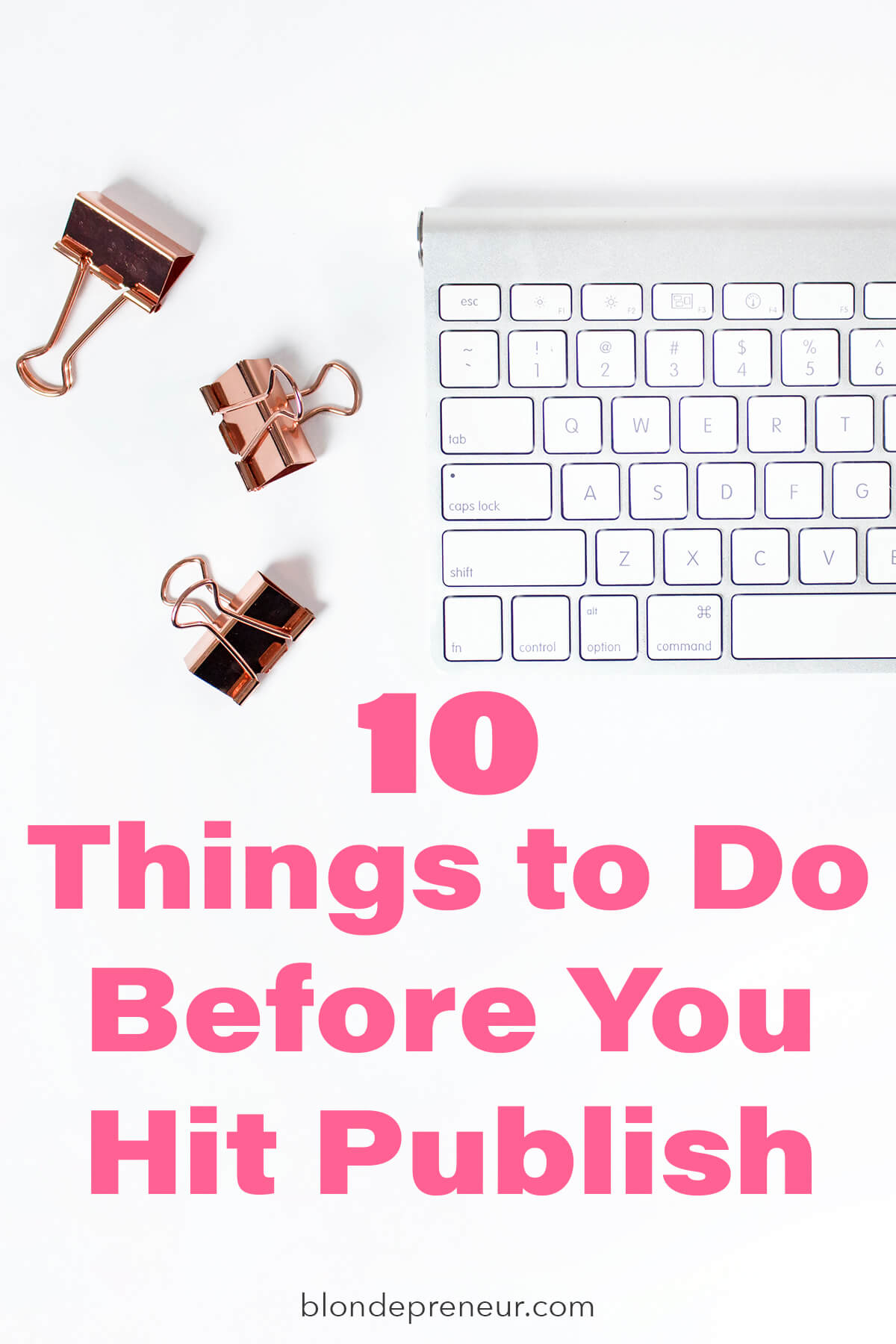 Blogging tips to help you put the finishing touches on your blog post before you hit publish. Learn tips for SEO, catchy titles, and tools to help you write your content in the best way possible!