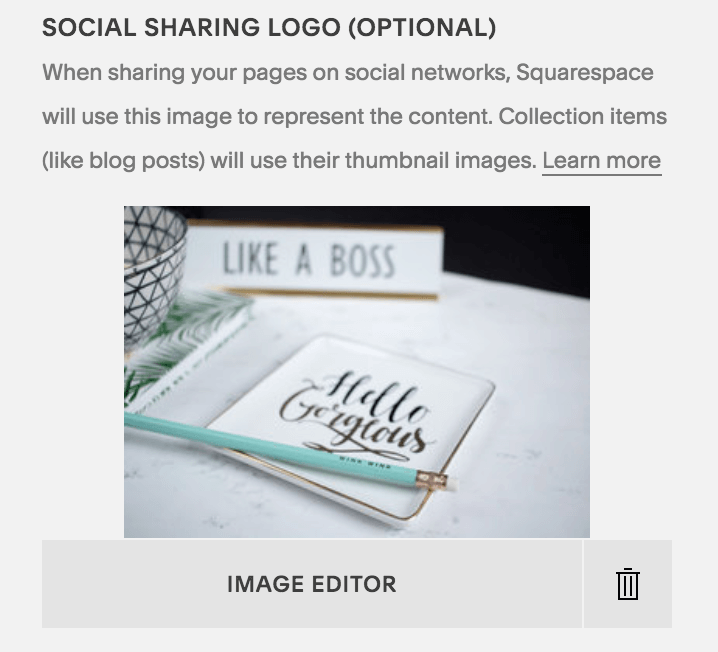 Add your social sharing logo for Facebook previews