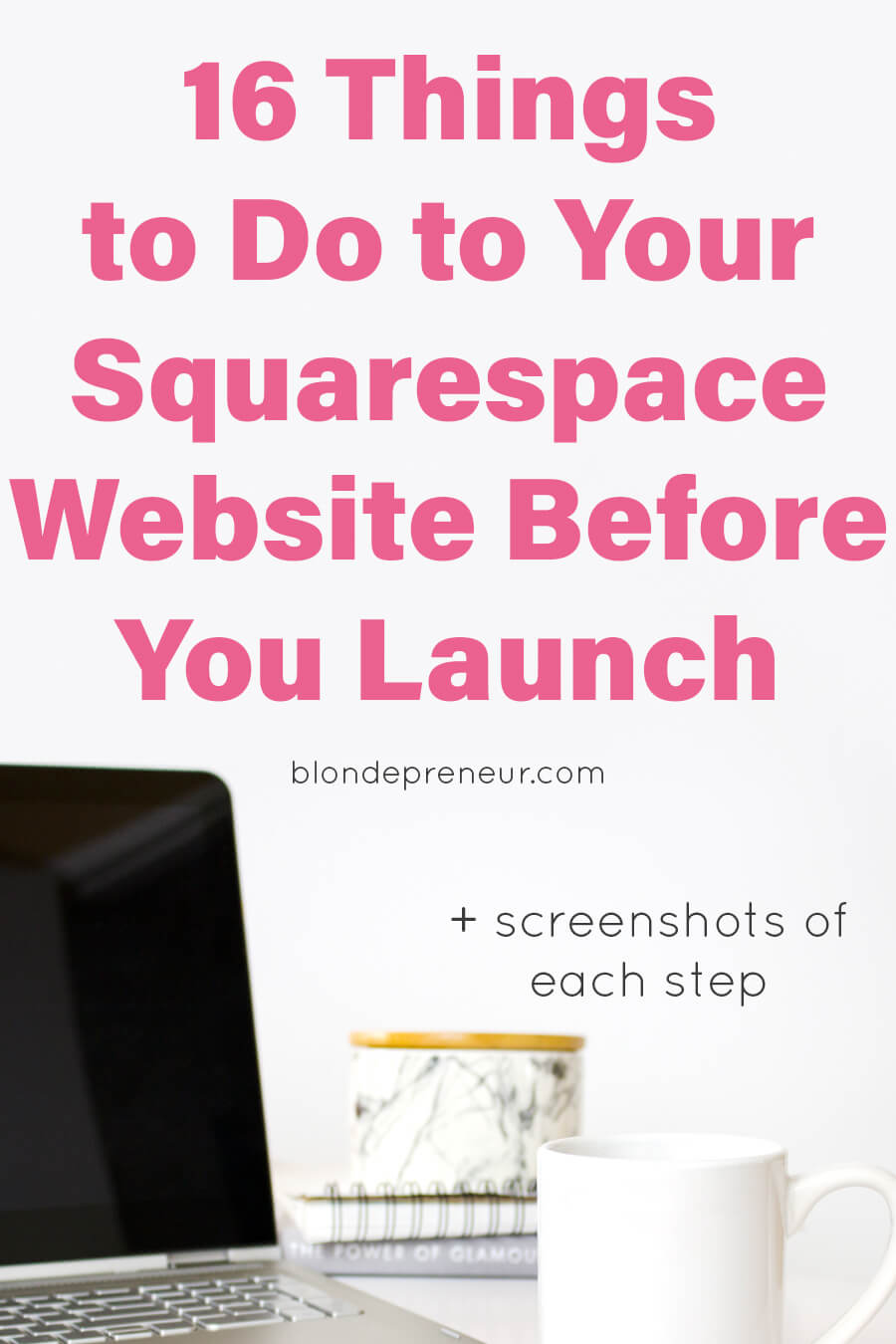 #squarespacetips Check out this website launch checklist with 16 things to do to your Squarespace website before you launch! Most of these tips are things people either forget or don't even know about. Follow these easy steps to make sure your website is fully functioning before you launch it out into the entrepreneur world. I included screenshots of each step so you know exactly what you are doing every step of the way!