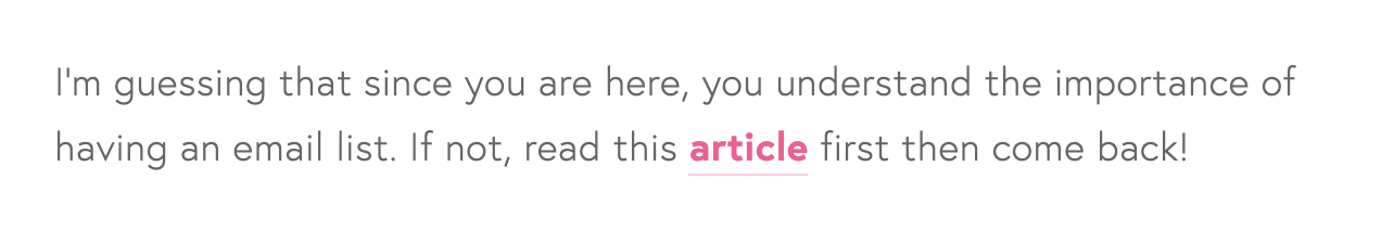 Link to related blog posts within your article