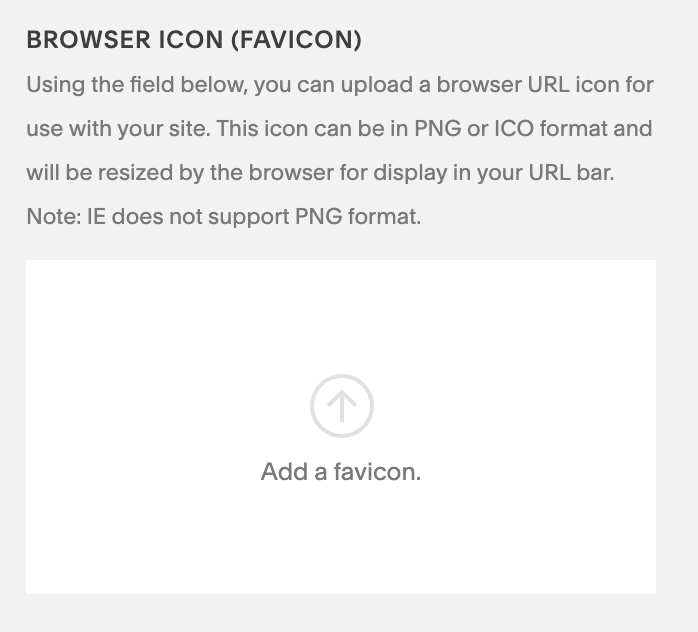 Add your custom browser icon to your Squarespace website