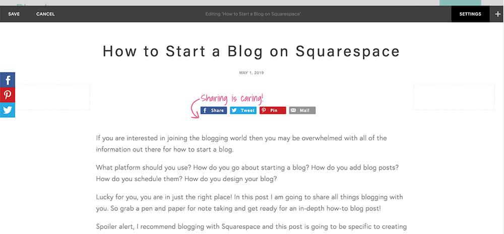 Edit your blog post settings