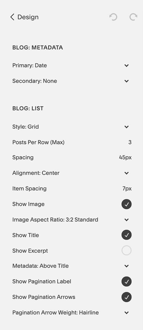 Set your blog styles