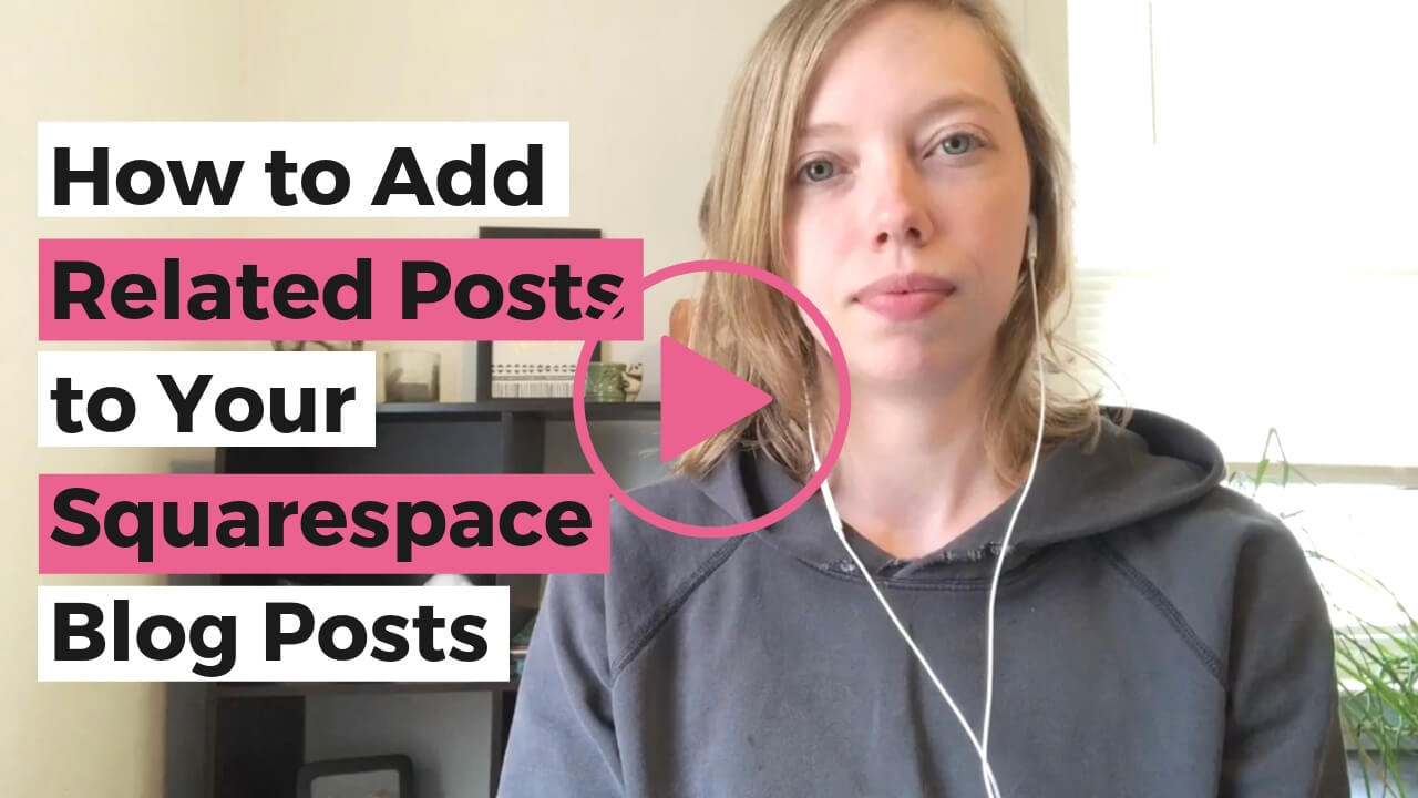 Click to watch the tutorial video showing you step by step how to add related posts to your Squarespace blog posts