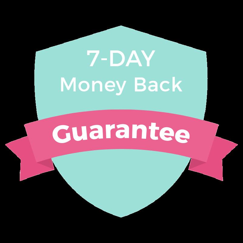 Money back guarantee for Design Your Domain - Squarespace web design course