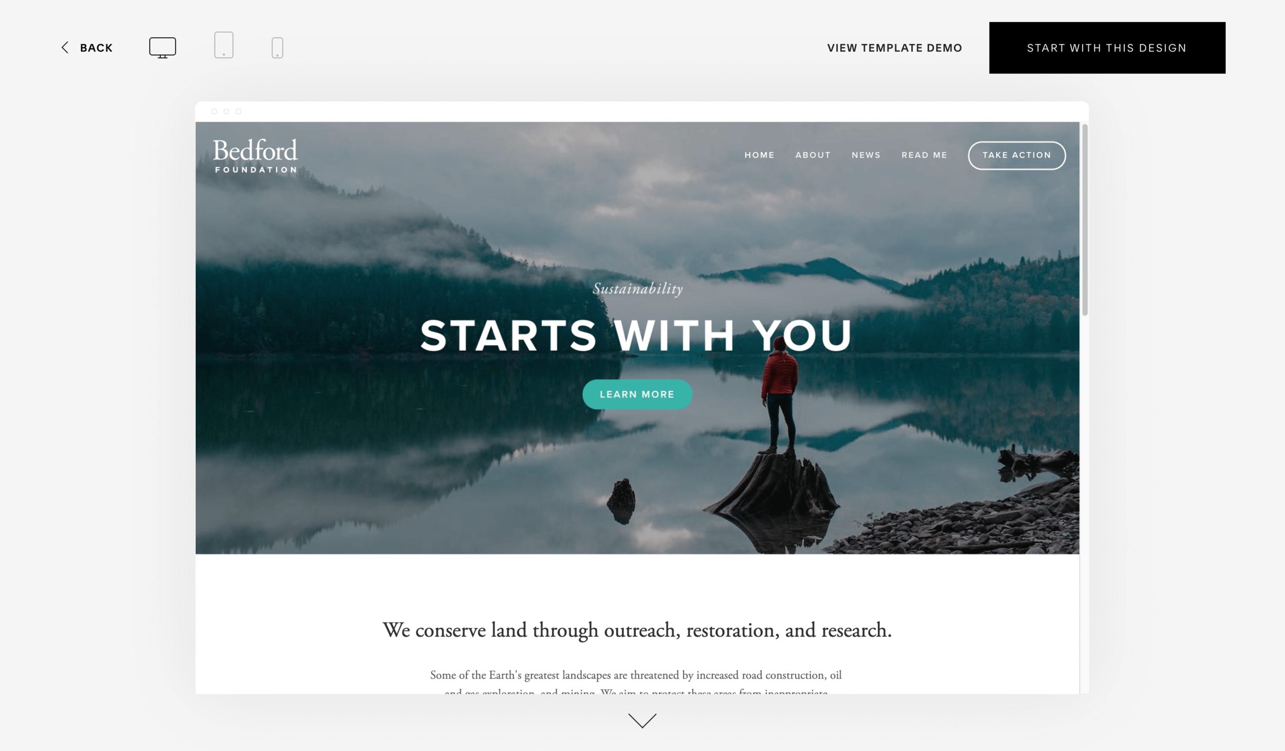 You can preview Squarespace's templates to help you decide which template to pick