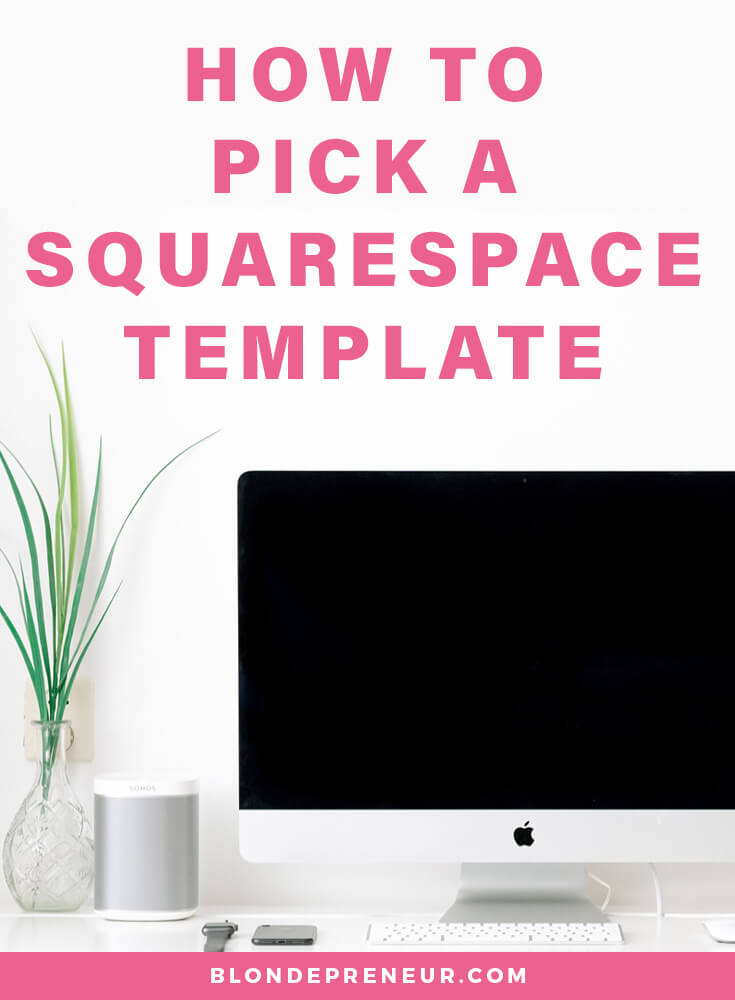 When you start your Squarespace free trial the first you need to do is pick your template. So, how do you pick a Squarespace template? How do you know which one you should pick? In this post I explain to you what a template is, the different ways you can choose your template, and which template is the best overall. #squarespace #squarespacetemplates #squarespacewebsite #squarespacetips