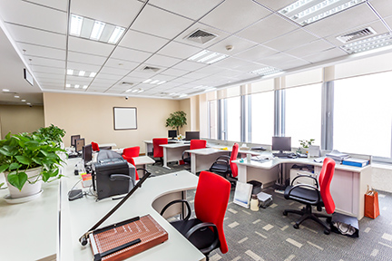 Reject UV rays & Reduce Sun Glare - Heat Reflective Window Film rejects 99% of harmful UV rays while it protects office furniture from sun fading, and allows the sunshine to light up the office space.
