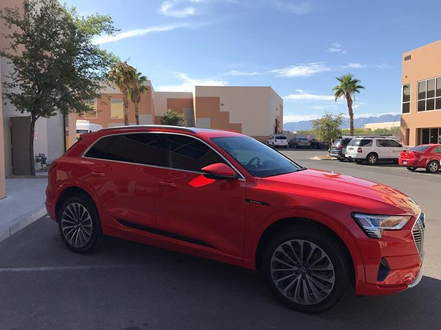 2019 @Audi #etron protected from the elements with @XPEL #ULTIMATEPLUS Paint Protection Film and XR PLUS Ceramic Window Film.