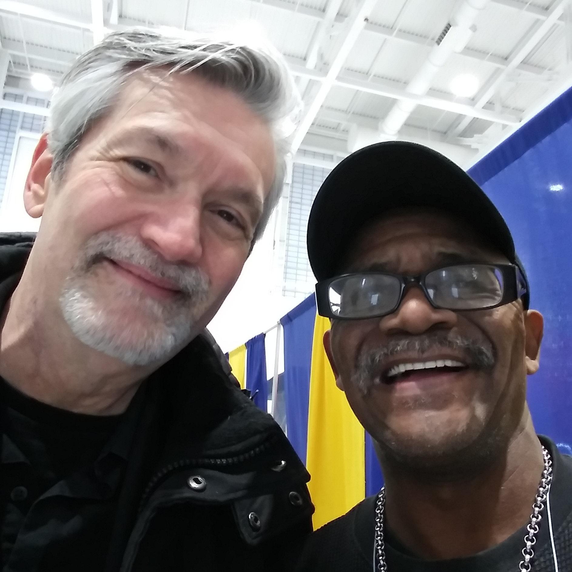 Todd Hobin with Eddie Wallstreet Brown of the Blacklites