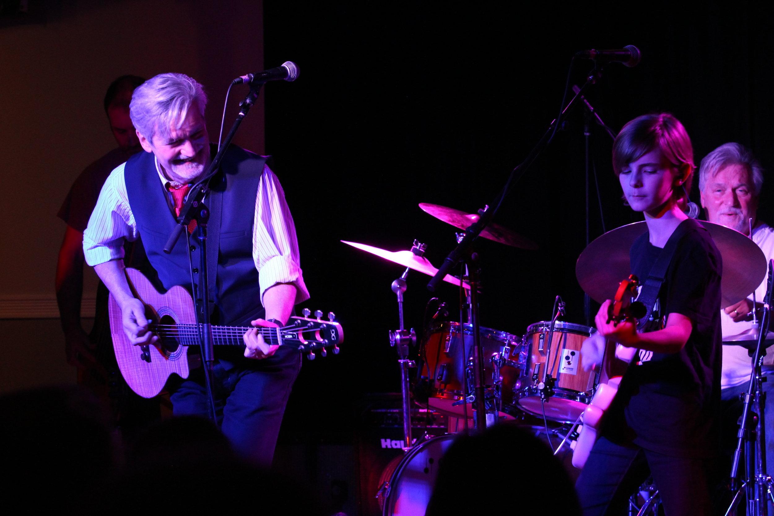 Eamonn Hubert with the Todd Hobin Band.