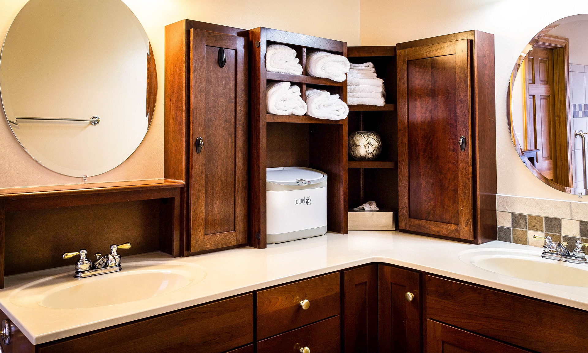 Make sure your new bathroom has plenty of room for storage. Medicine cabinets and storage shelves are handy for the items you use daily.