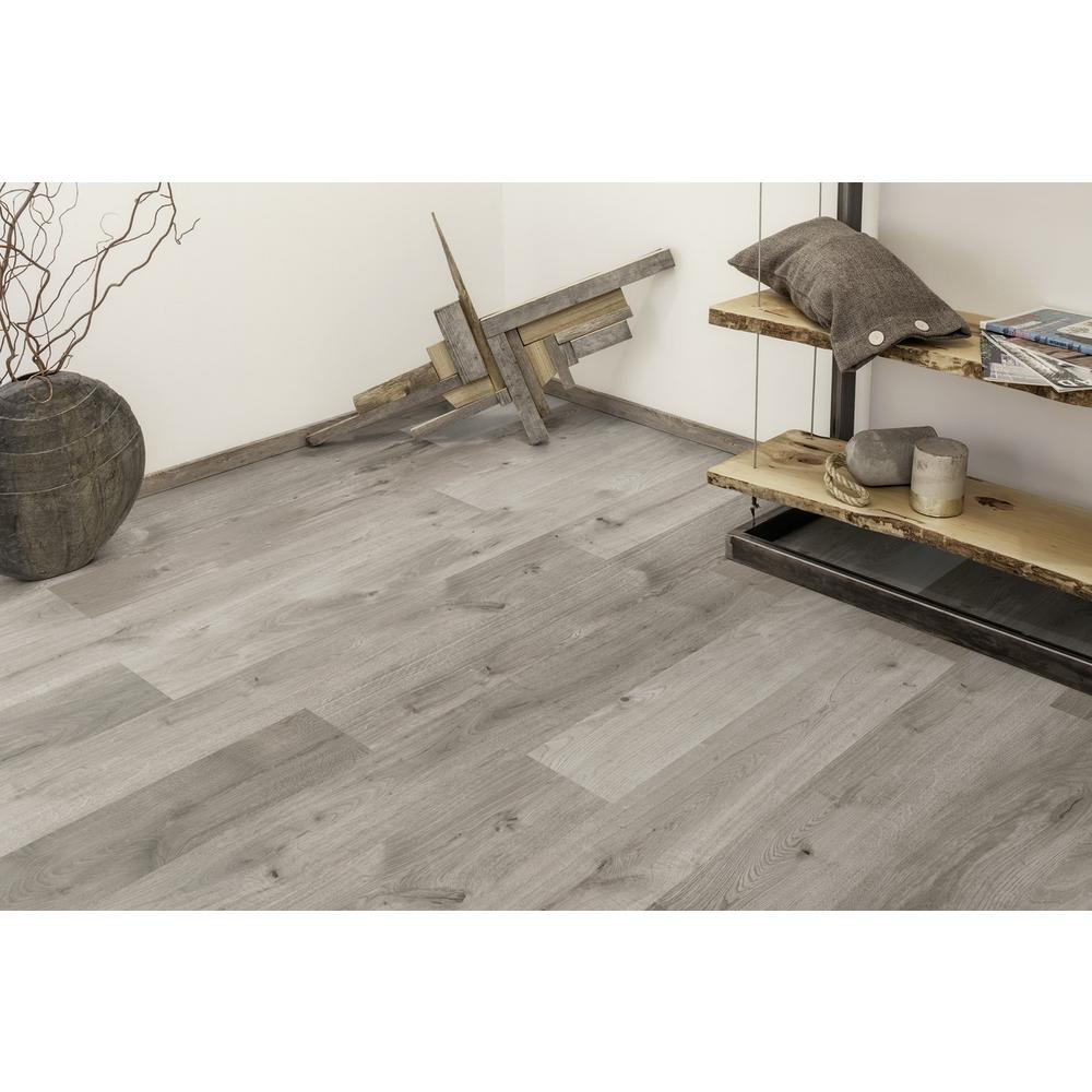 Castle Gray Oak 1/2 in. Thick x 6.26 in. wide x 50.79 in Length Engineered Hardwood Flooring