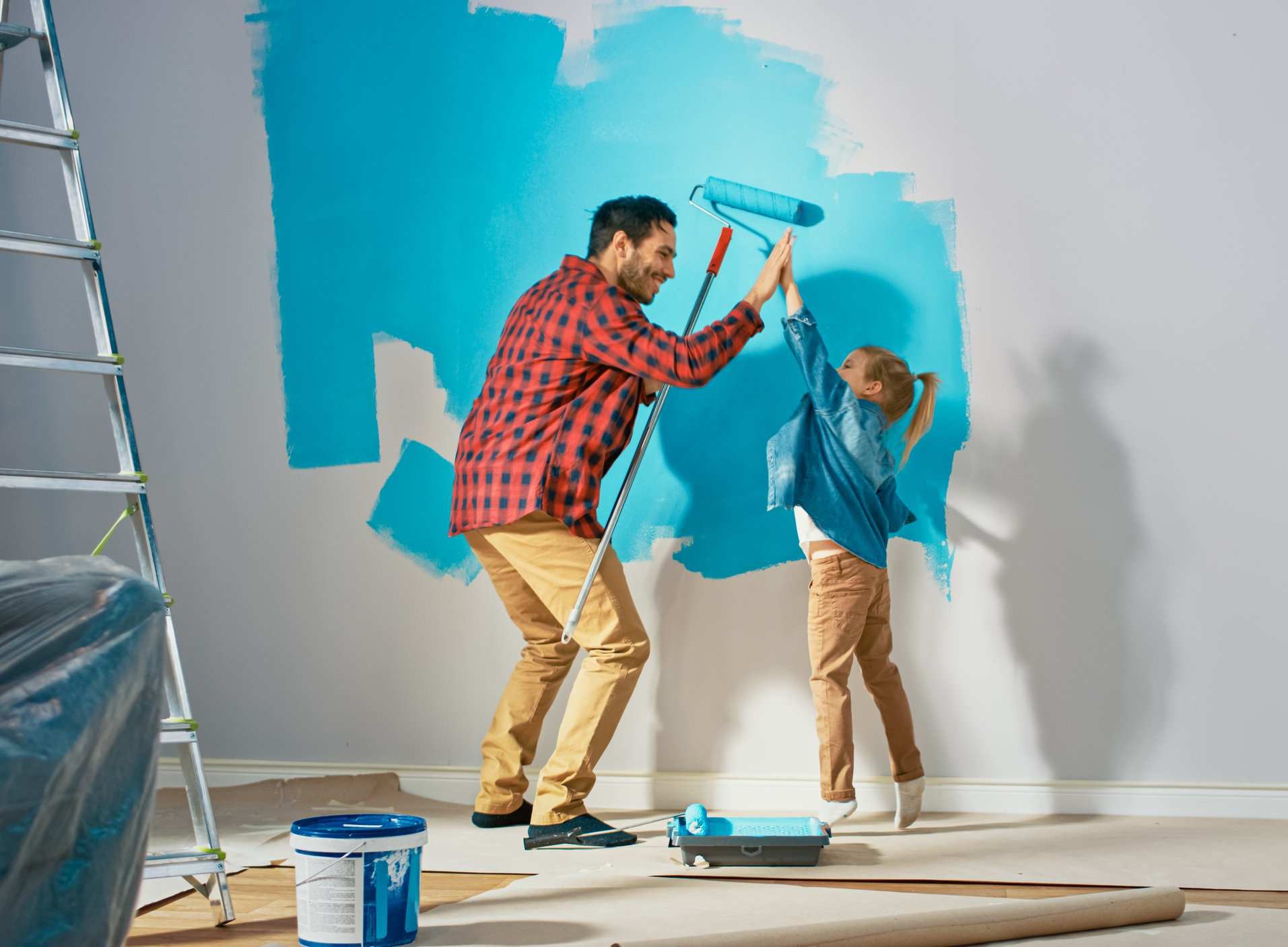 Have fun painting a room together as a family!!