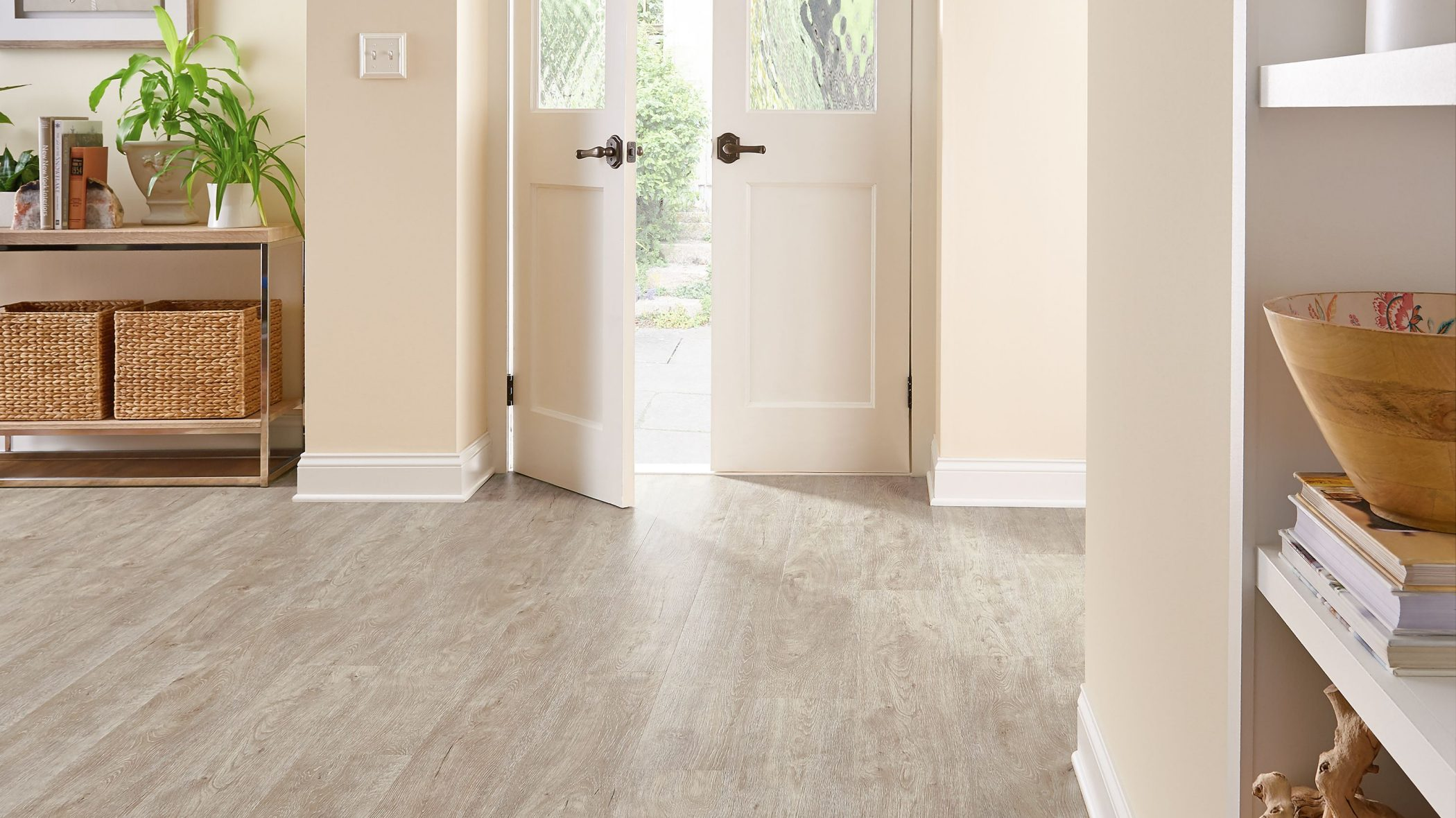Armstrong Keystone Oak Rigid Core flooring.