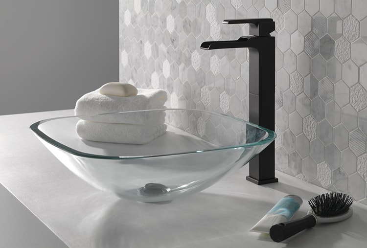 Gorgeous black matte fixtures are becoming very popular