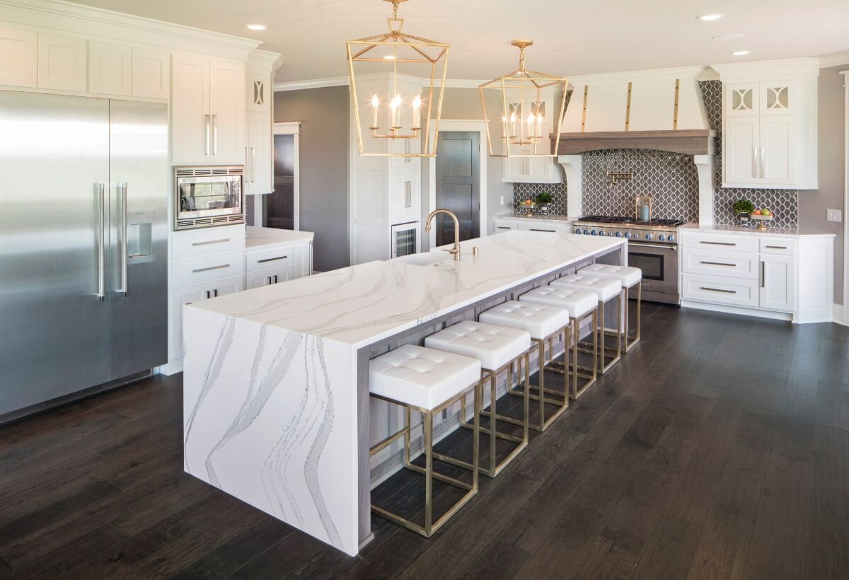 The Beauty Of A Waterfall Countertop Multi Trade Building Services