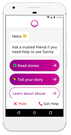 The Sunny App - Free to download & Available now on iPhone & AndroidApp Store: http://bit.ly/SunnyAppStoreGoogle Play: http://bit.ly/SunnyGooglePlayVisit www.1800respect.org.au/sunny to find out more.