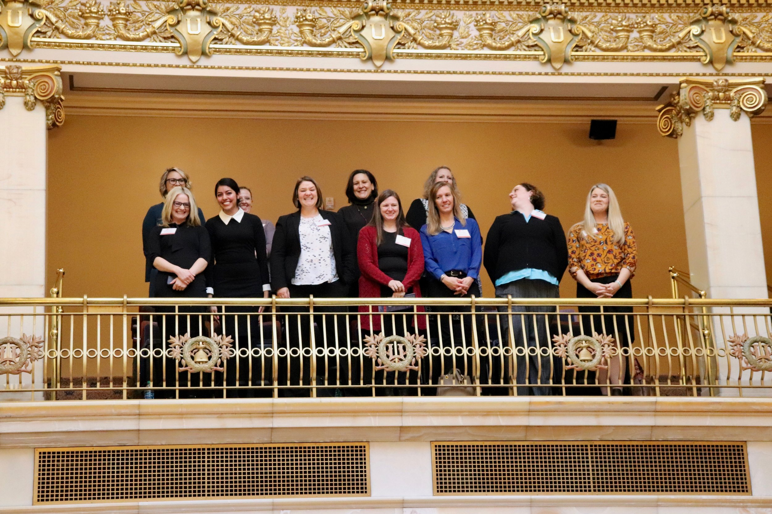 Graduates of the Political Development Series in the gallery.