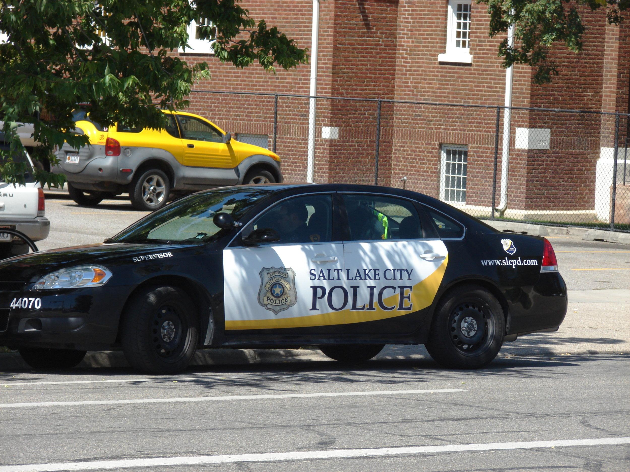 A Salt Lake City police cruiser.