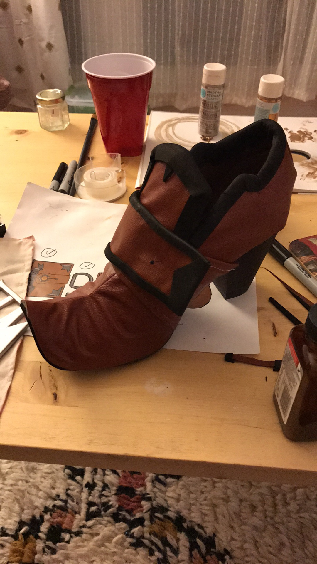 Boot covering and details attached. The trim is all 2mm foam, which seemed to work alright.