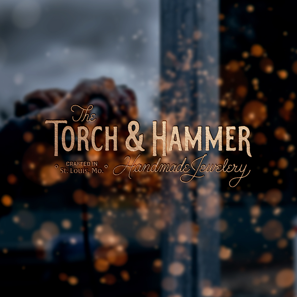 The Torch and Hammer Web Banner Branding Illustration Hand lettering Project