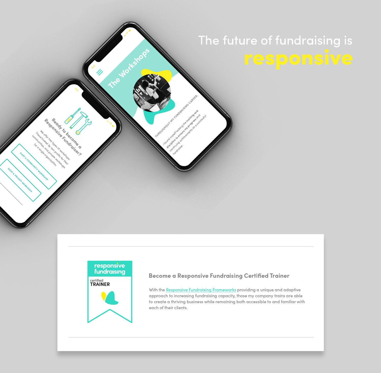 Responsive Fundraising iPhone X mockup mobile website.jpg