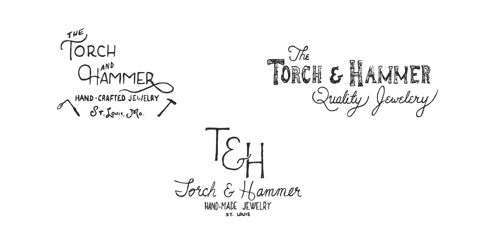 Responsive Fundraising GraphicTorch and Hammer Brand Logo Sketches.png