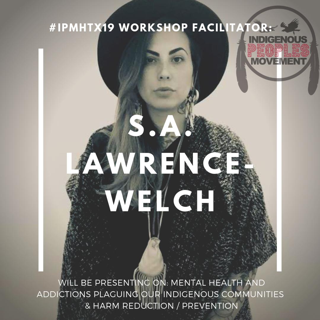 S.A. Lawrence-Welch  Plains Cree / Métis   LRI Interview