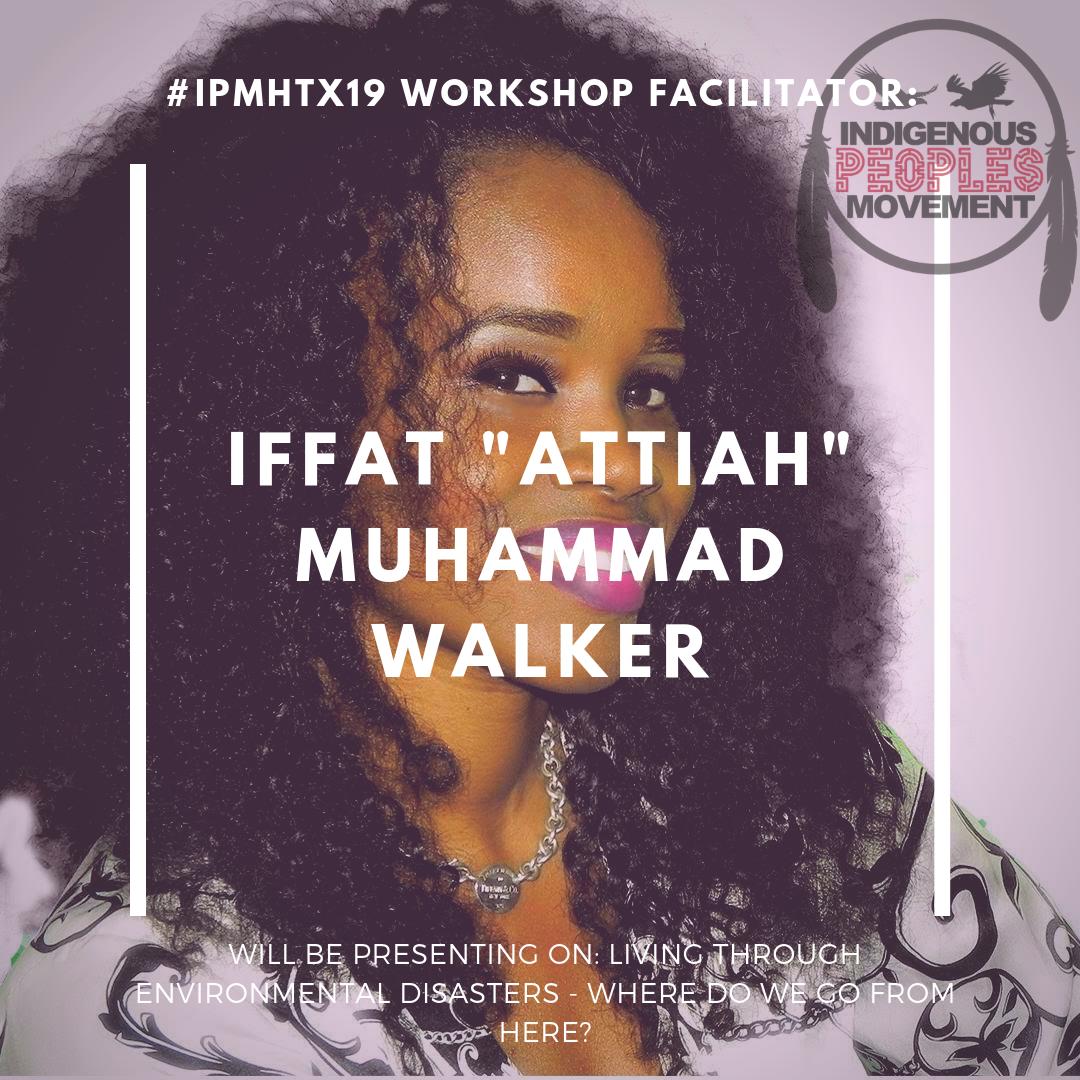 "Iffat ""Attiah"" Muhammad Walker  Virgin Islander   www.iffatwalker.com"
