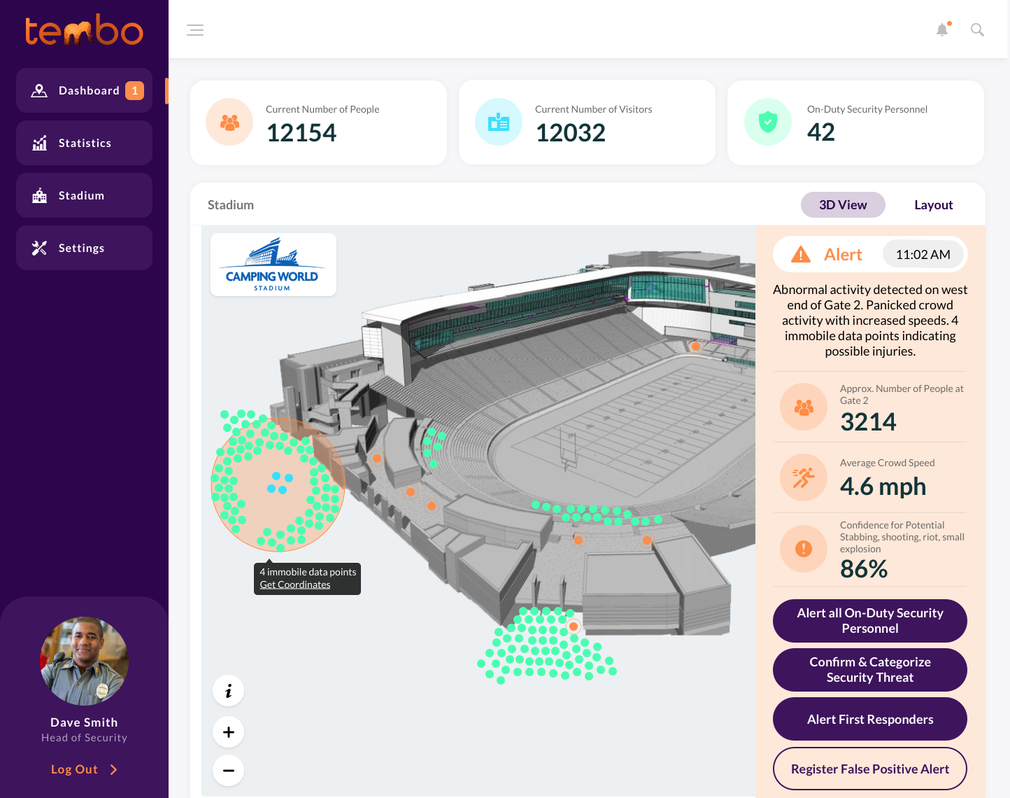 The Tembo Platform for stadiums