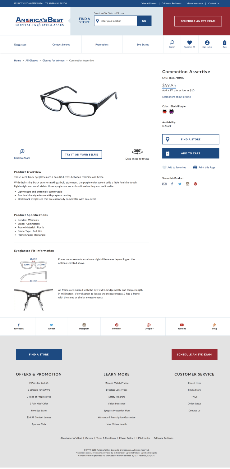 Product Detail Page from the site -