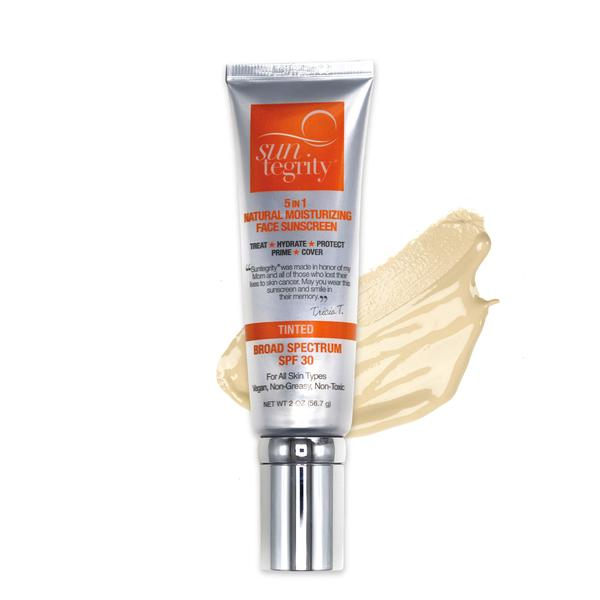 Suntegrity: 5 in 1 Face Sunscreen Tinted $45