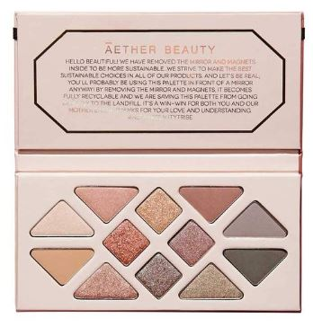 Aether Beauty: Rose Quartz Gemstone Palette $58