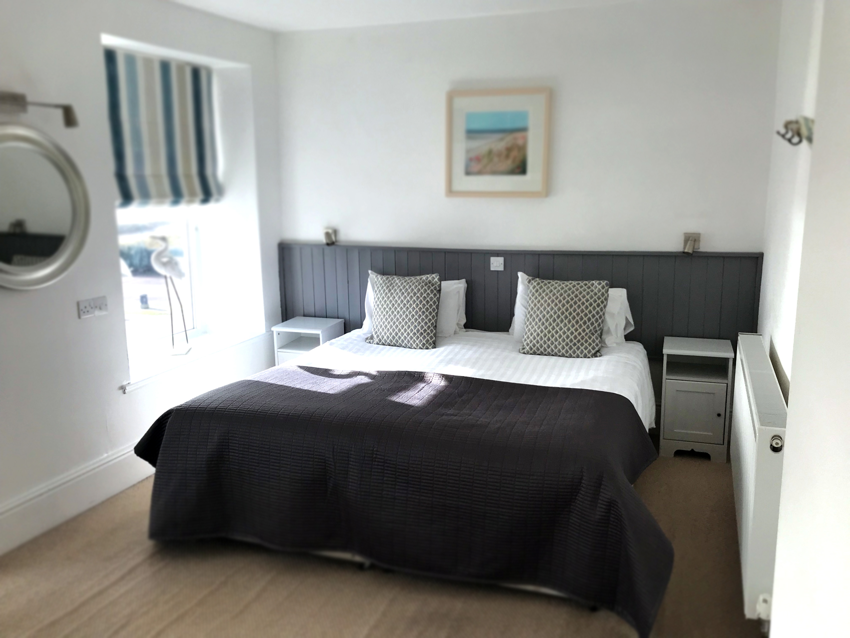 OUR ROOMS - All rooms are en-suite and 4 have uninterrupted sea views over the estuary, sandy beaches and the mountains beyond. Please note our rooms are non smoking.Check availability online and book direct here
