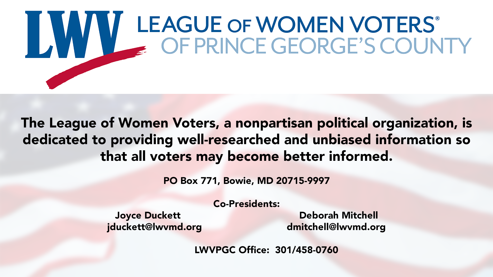 22 League of Women Voters, Prince George's County.png
